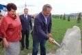 В Шадринске установили закладной камень на месте строительства ледовой арены