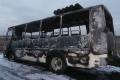 В Шадринском районе полностью сгорел рейсовый автобус