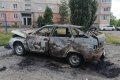 В одном из дворов Шадринска сгорела машина