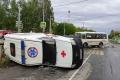 В Шадринске произошло столкновение автомобиля скорой помощи и автобуса