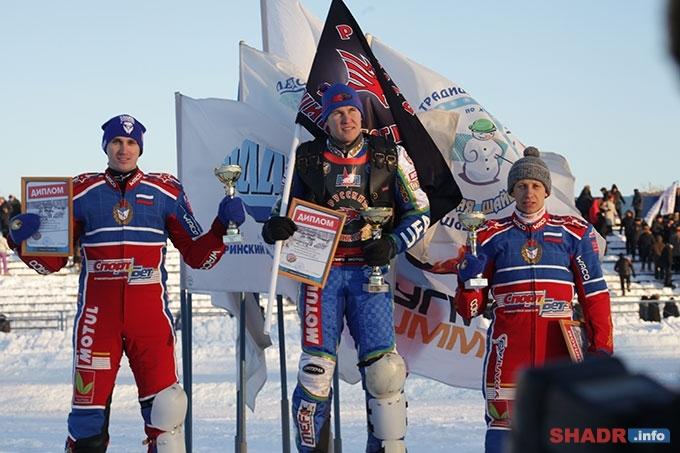 3 этап Финала Личного Чемпионата России по ледовому спидвею выиграл Николай Красников