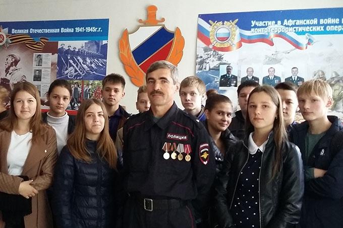 Школьники посетили музей ОМВД России по городу Шадринску