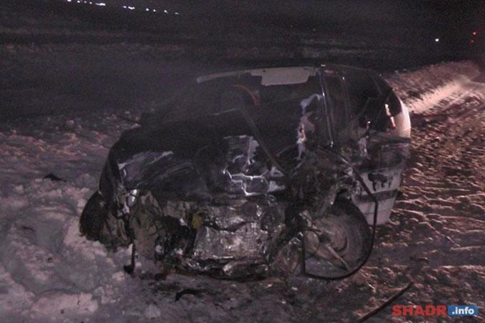 При столкновении автомобилей чудом не пострадали 9-месячные дети