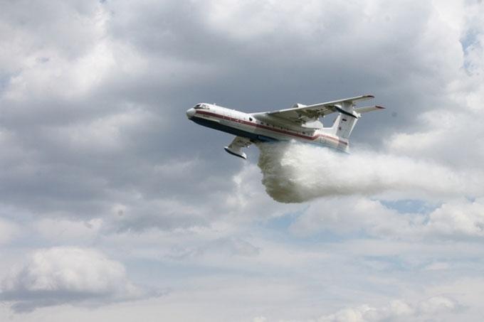 Прошли учения с участием авиаборта МЧС России «Бе 200 ЧС»