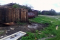 В Мокроусовском районе ураган разрушил дома и повалил около сотни столбов электропередач