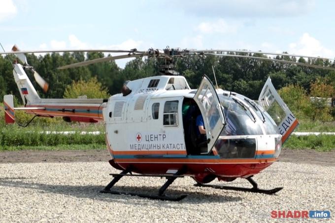 Вертолет санавиации доставил первого пациента из Шадринска в областную клиническую больницу
