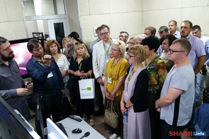 Представители телеканала «ШАДР-инфо» - участники Всероссийского телевизионного форума СМИ
