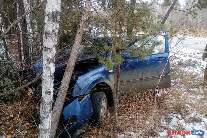 На автодороге Шадринск-Язовка произошло серьезное ДТП
