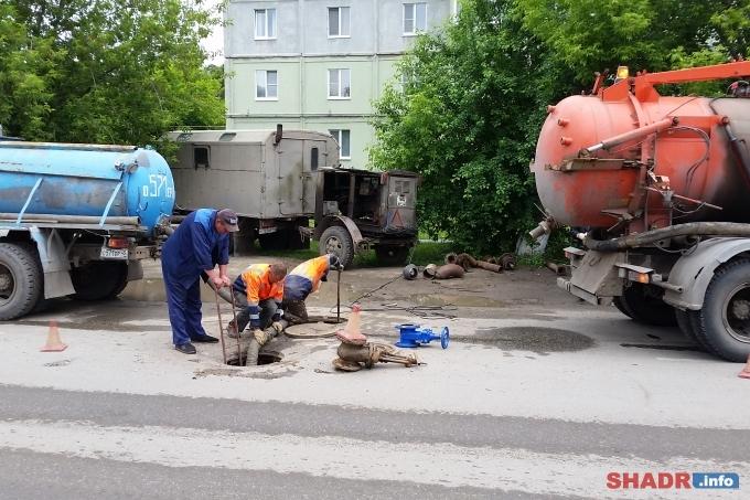 В 2017 году в Шадринске заменён водовод протяжённостью 1775 метров и 786 метров водопровода