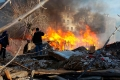 Пожар в Шадринске в руинах старого дома