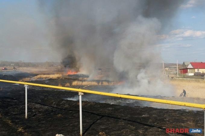 Ситуация с пожарами вблизи населённых пунктов в Зауралье стабилизирована