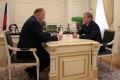 Полпред Николай Цуканов провел рабочую встречу с Губернатором Алексеем Кокориным