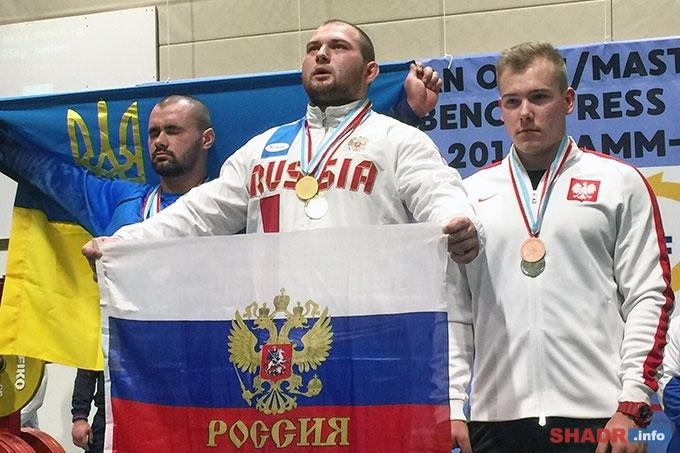 Роман Симахин стал победителем первенства Европы по жиму штанги