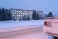 На Шадринск обрушился снегопад
