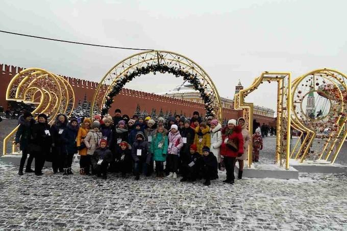 Зауральские спортсмены посетили главную ёлку страны
