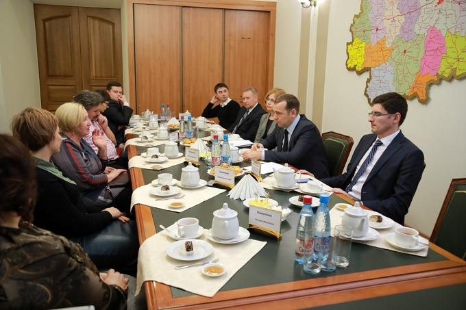 Вадим Шумков встретился с авторами инициатив по развитию региона