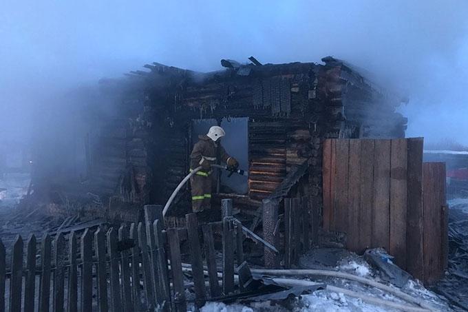 В огне погибли сразу три ребёнка