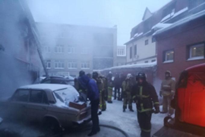 В сауне курганской гостиницы произошёл пожар