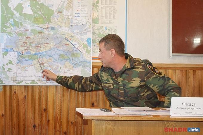 Александр Фадеев: «Ожидаемый уровень воды в реке Исеть — 200 см, максимальный по прогнозу — 269 см»