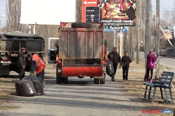 В Шадринске идёт пора субботников