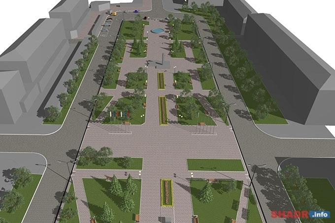 Сквер Победы станет единой пешеходной зоной