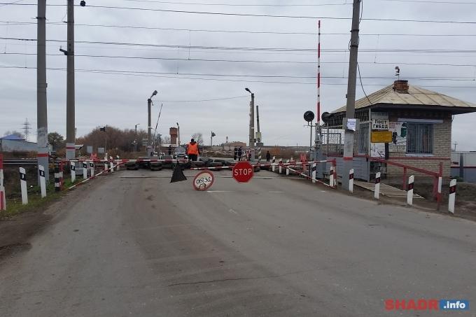 На длительное время для проезда автотранспорта закроют железнодорожный переезд 218 км