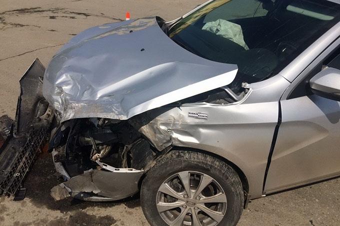 В Шадринске в ДТП водитель получил телесные повреждения