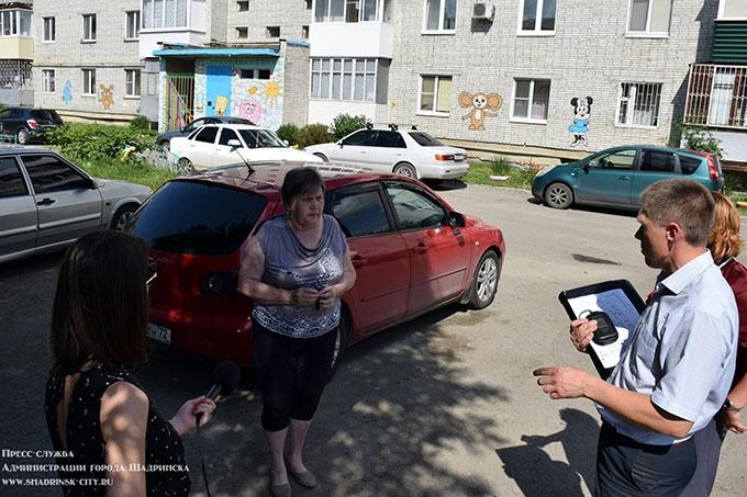 Очередная проверка прошла по дворам Шадринска