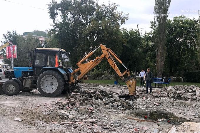 Началась реконструкция шадринского фонтана