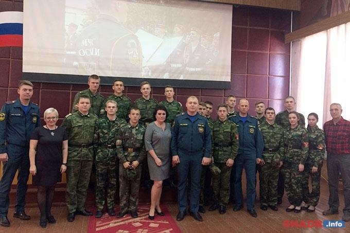 Учащиеся Губернаторской Шадринской кадетской школы побывали в гостях в шадринском спасательном гарнизоне