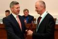 Председатель Курганской областной Думы Дмитрий Фролов поздравил нового главу города Шадринска