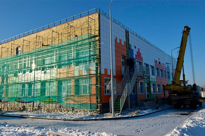 Строительство нового детсада-ясли на 150 мест находится на заключительном этапе