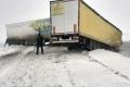 В трассе произошло столкновение двух большегрузов