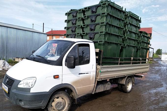 В Шадринске установили пластиковые контейнеры для мусора