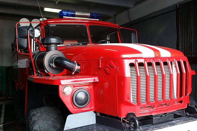 При пожаре спасен хозяин гаража