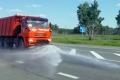 Автомобильные трассы проливают водой,движение большегрузов ограничено