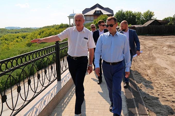 Вадим Шумков оценил ход благоустройства Шадринска
