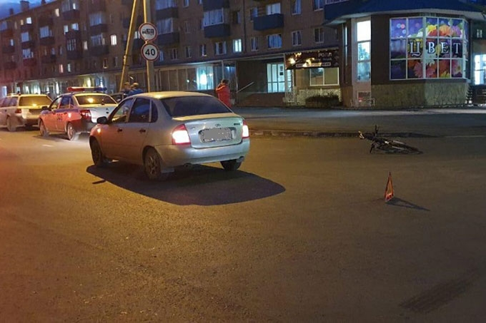 В Шадринске в ДТП пострадал велосипедист
