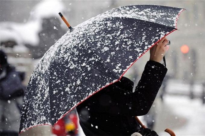 Объявлено штормовое предупреждение. В регионе ожидается сильный мокрый снег