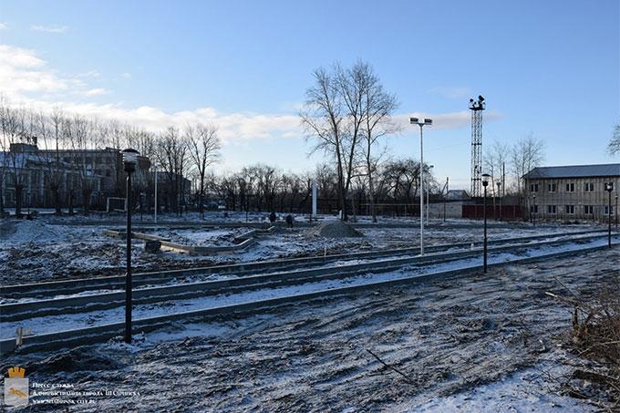 Работы по строительству скейт-парка продолжаются