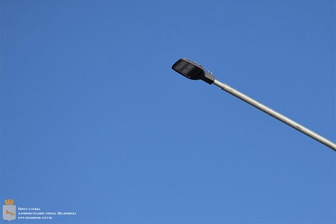 В центре Шадринска заменят уличное освещение
