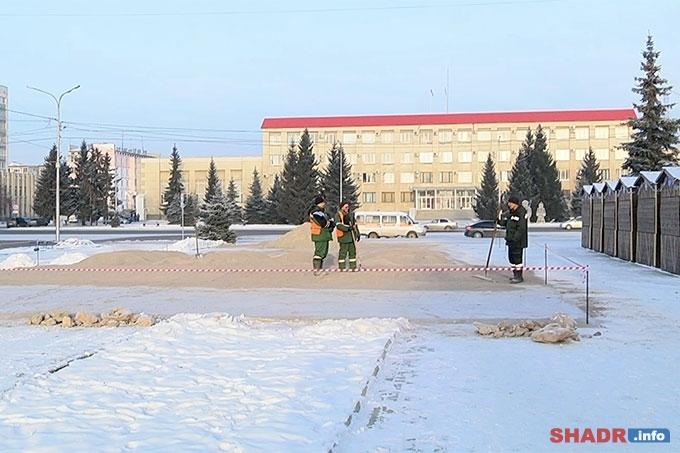 В центральном сквере Шадринска появится ледовый каток