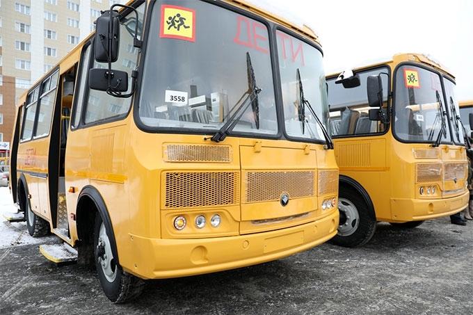В регионе появились 25 новых детских автобусов