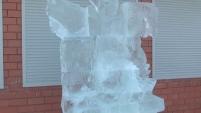 Шадринск украсила ледяная скульптура гуся