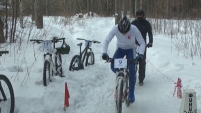 Зимняя велогонка в Шадринске