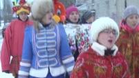 Шадринская молодежь вышла колядовать на улицы города