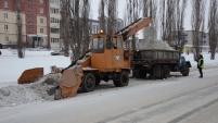 Вывоз снега с улиц Шадринска