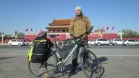 Велосипедист-путешественник в Шадринске