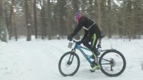 Зимняя шадринская велогонка