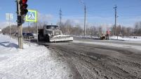 Уборка снега в феврале